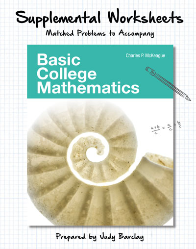 picture of Supplemental Worksheets for Basic College Mathematics