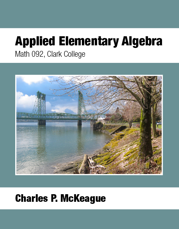 picture of Applied Elementary Algebra Math 092 Clark College