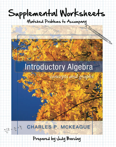 picture of Supplemental Worksheets for McKeague's Introductory Algebra
