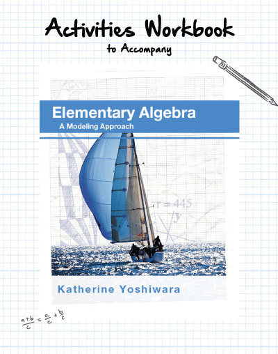 picture of  Activities Workbook to Accompany Elementary Algebra