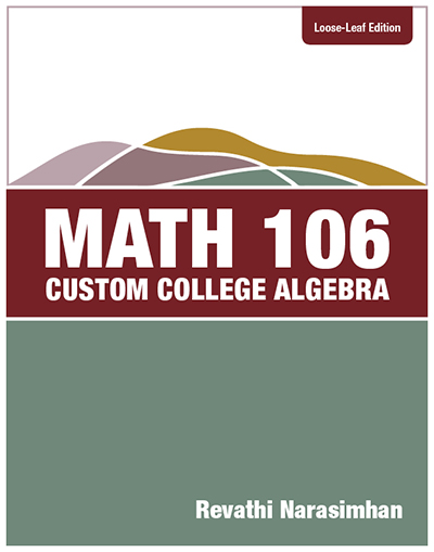 picture of Math 106, Custom College Algebra