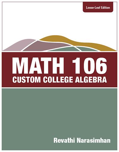 picture of Math 106, Custom College Algebra