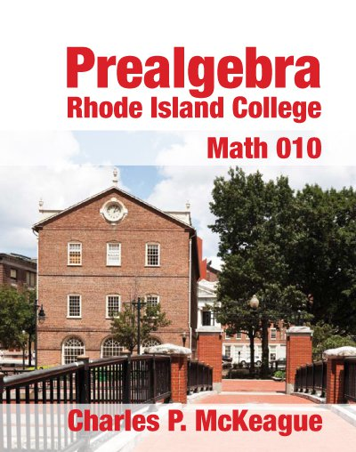 picture of Prealgebra for Rhode Island College