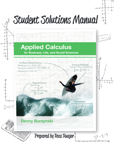 Student Solutions Manual for Applied Calculus