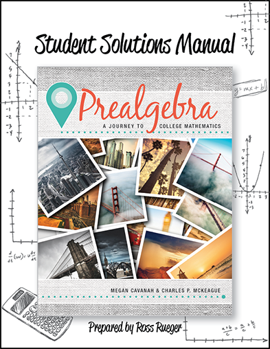 picture of Student Solutions Manual Prealgebra: A Journey to College Mathematics