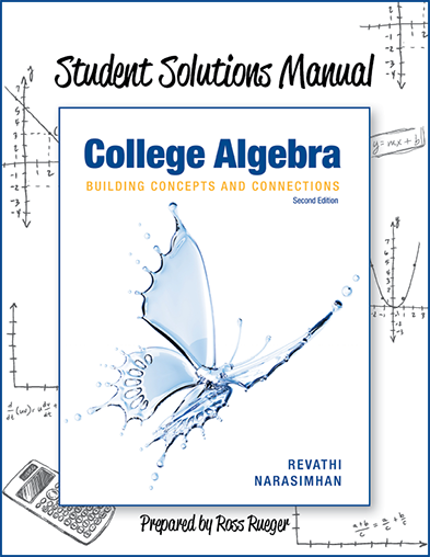 picture of Student Solutions Manual  College Algebra: Building Concepts and Connections 2e