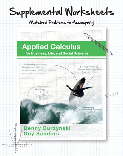 picture of Supplemental Worksheets for Applied Calculus