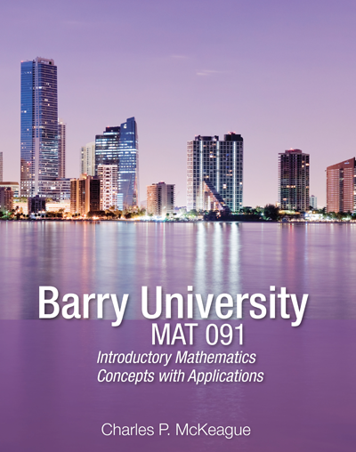 picture of Barry University Mat 091 Introductory Mathematics: Concepts with Applications