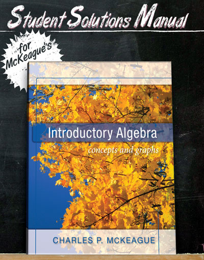 picture of Student Solutions Manual for McKeague's Introductory Algebra