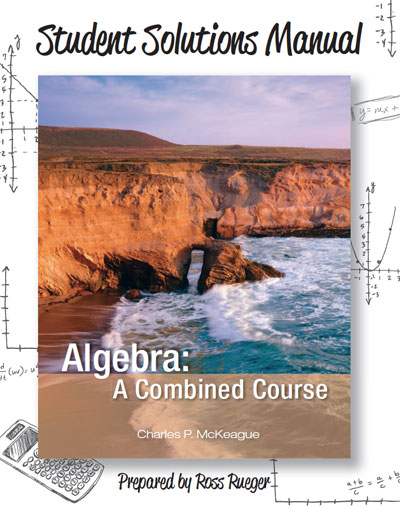 picture of Student Solutions Manual for Algebra: A Combined Course <small>(Concepts with Applications)</small>