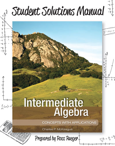 picture of Student Solutions Manual for Intermediate Algebra: <small>Concepts with Applications</small>