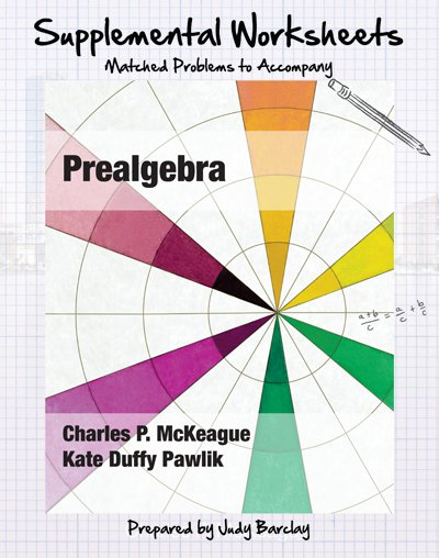 picture of Supplemental Worksheets for McKeague's Prealgebra
