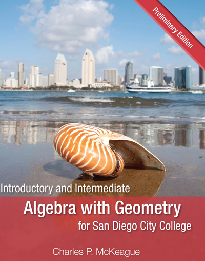 picture of Introductory and Intermediate Algebra with Geometry for San Diego City College