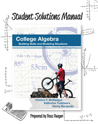 Student Solutions Manual for McKeague's College Algebra